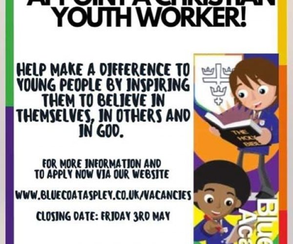 Christian youth worker advert